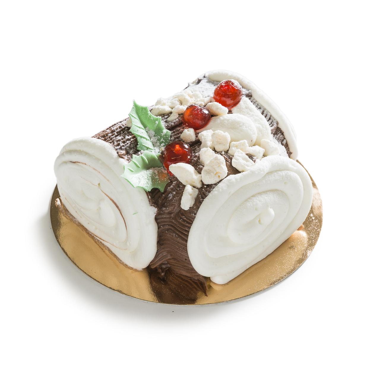 Tronchetto Bianco Di Natale.Tronchetto Di Natale Bianco 550 G Erlacher Alta Pasticceria